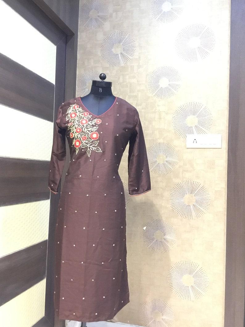 Indian Jaipuri Kurtis Designer Kurtis Party Wear Embroidery Kurti Kutis Kurta Hand Work