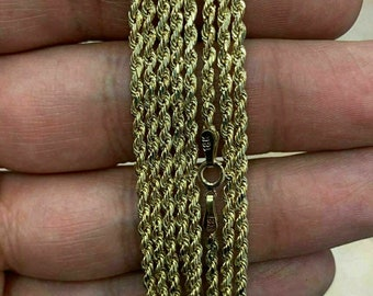 fb30be7242791 18k gold rope chain | Etsy