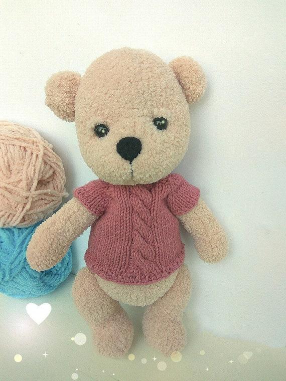 Amigurumi Bär Bär Kuscheltier Häkeln Teddybär Gestrickt Bär Etsy
