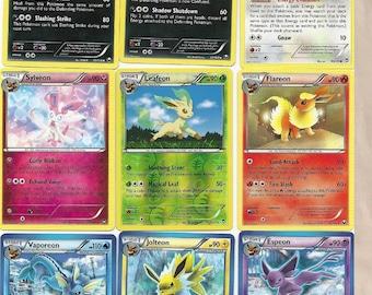 a042506f Pokemon Repack Rare 6 Card Pack Custom Booster Ultra Secret EX GX Lot Eevee  Espeon Vaporeon Jolteon Flareon Umbreon Sylveon Glaceon Leafeon