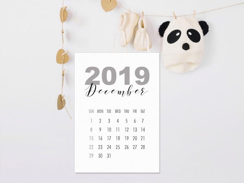 Calendario Cinese Della Gravidanza 2019.Dicembre 2019 Mese Di Gravidanza Annuncio Stampabile Calendario Scadenza Data Reveal Annuncio Di Nascita Del Bambino File Pdf Download