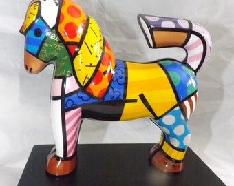 "Goebel Romero Britto ""Dancer"" Porcelain Horse Sculpture"