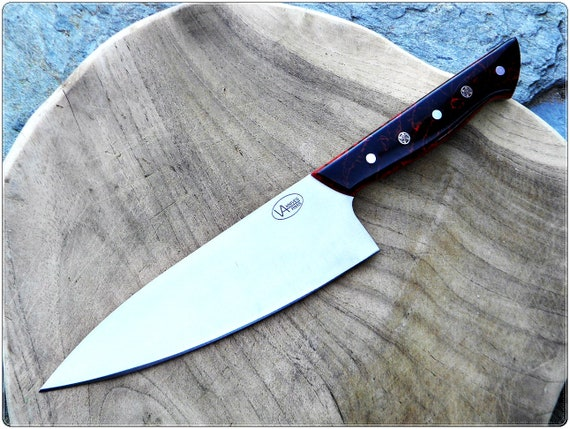 89/ Varms Chef knfe IIKR Polish custom kitchen knife N690 Bohler steel