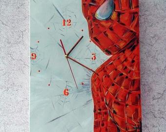 Spiderman Wall Clock, Clocks Handmade, Spiderman, Home Decor, ArtClock, Wall Clock