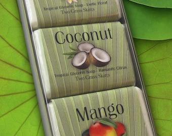 Gift Set - Bar Soap - Paradise, Coconut, Mango