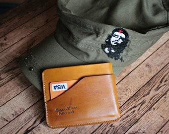 Leather Wallet , Mens Minimalist Wallet , Mens Wallet,Mens Leather Wallet Slim,Front Pocket Slim Design ,Minimalist Credit Card Wallet