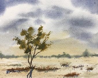 Lone Tree Original Watercolor