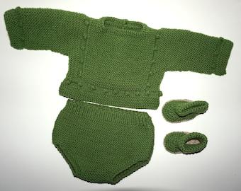 Two-needle fabric baby Set