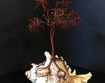 Dark Copper Twisted Tree