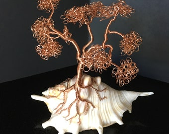 Rose Copper Twisted Tree
