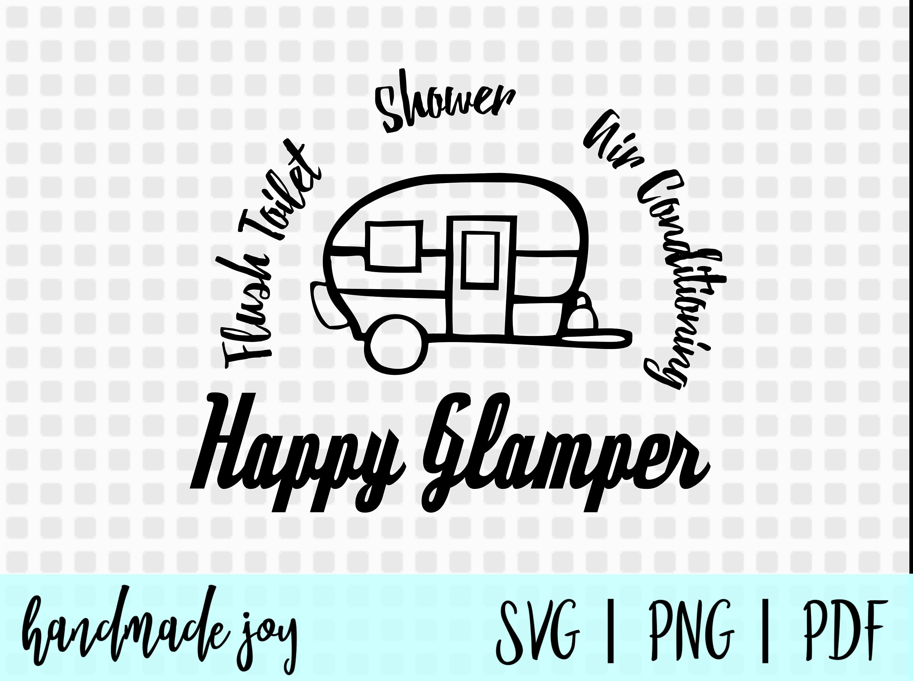 Happy Glamper Svg Camper Camping