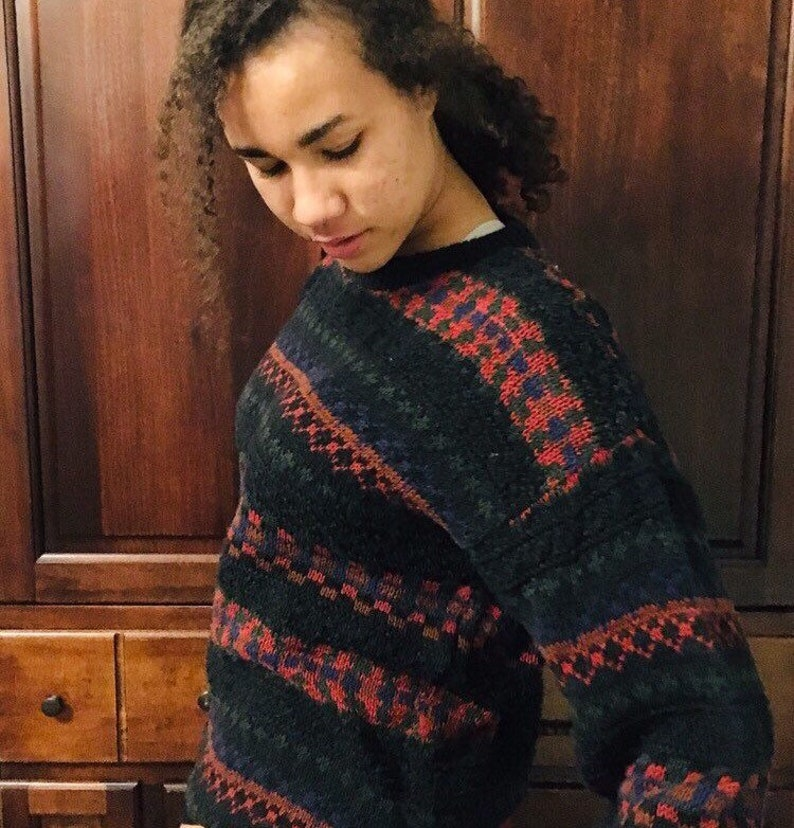 9802204723 Vintage 90s pullover sweater oversized ugly Christmas sweater