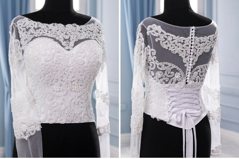 Free shipping Bridal corset Beaded  Wedding corset for dress  Detail for wedding dress Bridal separates Wedding separates UP  Wedding dress