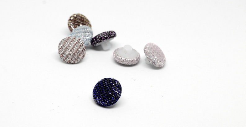 Small buttons Size 18 L Wedding shiny buttons Buttons covered in shiny fabric Bridal  buttons Buttons Buttons chameleon