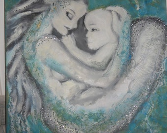mermaid with her child