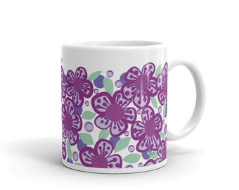 Coffee Mug Violet Flower drinkware kitchen dining