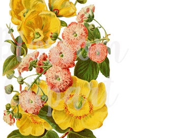 Floral Clipart for Invitations, scrapbook, Card making, collage, prints Digital Download - 1469