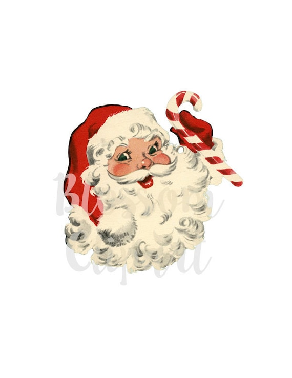 Christmas Card Clip Art.Santa Vintage Christmas Clip Art Santa Vintage Graphic Christmas Clip Art For Cards Crafts Scrapbook Collage Prints 2316