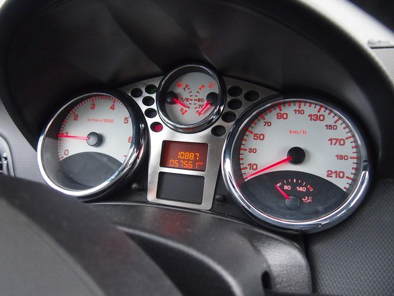 Voiture Tachymètre Décoratif Overlay Cc Erwan 207 Bord Cadre Peugeot Tableau Sw Plaque Kit Gti Couverture De zMSUpV