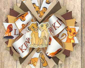 lion king bows lion king hair clips no slip clip lion king bow Lion king hair bows lion king clips Lion king hair clips hair bows