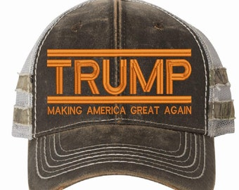 62f71382602 Make America Great Again Hat - Donald Trump 2020 HPC400M Outdoor Adjustable  Hat Orange