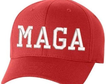 BuckUp Tactical Make America Great Again Hat - Donald Trump MaGA FLEX FIT  Red S M or L XL Sizes 131b6b0e7a68