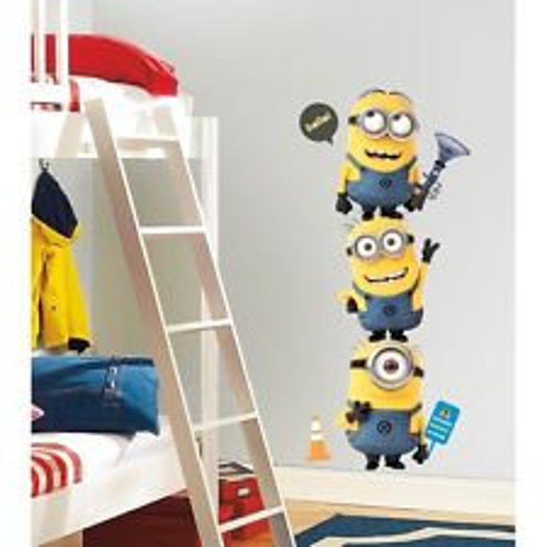 31 New DESPICABLE ME 2 MOVIE WALL DECALS Gru /& Minions Stickers Kids Room Decor