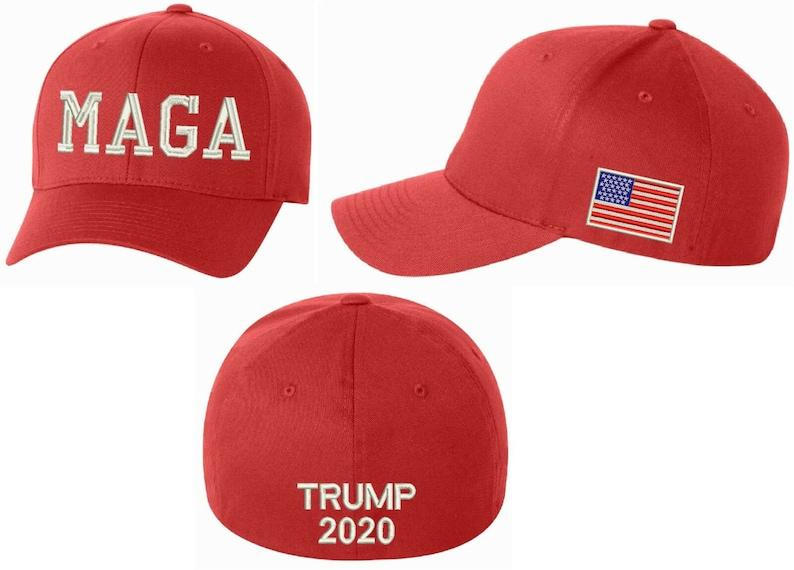 a7b5881450855 Make America Great Again Hat MAGA Flex Fit hat w  USA FLaG