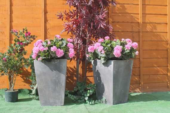 Stone Canterbury Planting Tub Urn Garden Ornament Flower Pot Etsy