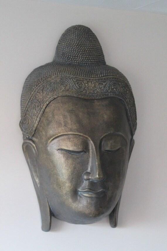 Large Buddha Wall Hanging Mask Etsy