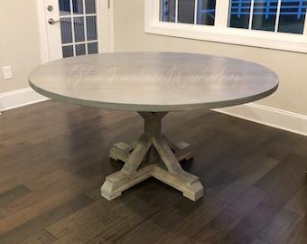 Superieur Round Farmhouse Table, Round Table, Farmhouse, Handmade Table, Glam  Farmhouse, Hans Built Table, Custom Made, Custom Built Table, Any Size