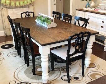 Farmhouse dining table   Etsy