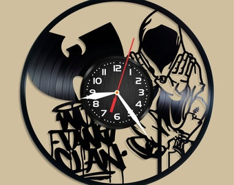 Wu-Tang  Hip Hop Group Vinyl Record Clock Wu-Tang Wall Decor Wu-Tang Art Wu-Tang Decoration Wu-Tang Decor Wall Clock Wu-Tang Gift For Fans
