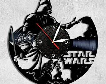 STAR WARS Vinyl Wall Clock Record Wall Clock Star War Wall Decor  Birthday Gift Darth Vader Vinyl Record Wall Clock Wall Clock Modern