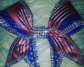 Large Sparkling Cheer Bow