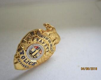 "NEBRASKA State Patrol LIEUTENANT Gold Tone Mini  Police 1/"" Badge PIN Tie Tac"