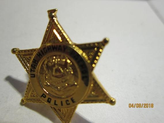 UTAH HIGHWAY PATROL POLICE OFFICER LAPEL  BADGE PIN