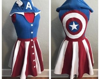 Captain America Inspired Kigurumi Dress