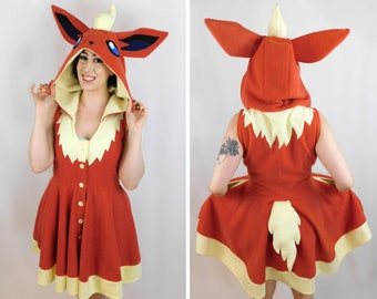 Flareon Inspired Kigurumi Dress
