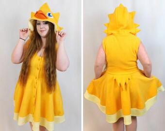Chocobo Inspired Kigurumi Dress