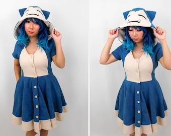 Snorlax Inspired Kigurumi Dress