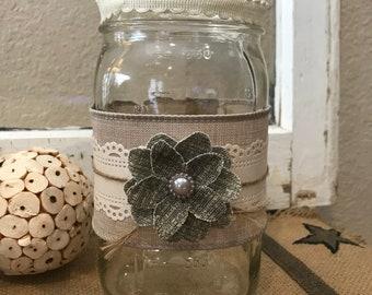 Decorative Large Wide Mouth Mason Jar