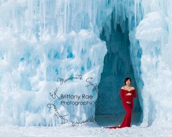 Ice Caves Digital Backdrop - Bundle of 10