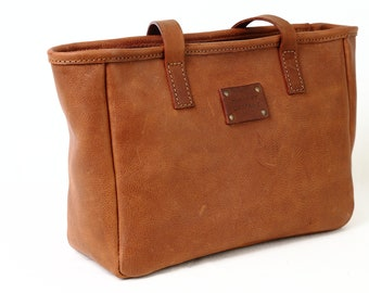 1cf602e1008b Leather TOTE bag in HERITAGE BROWN Made in Italy