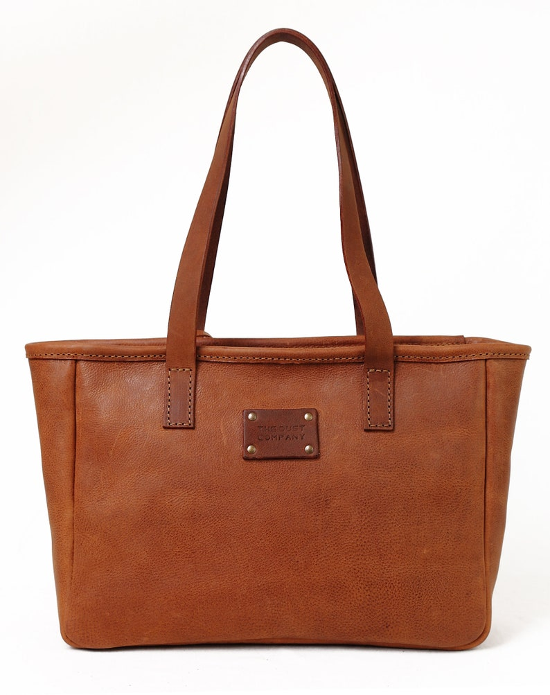 089e64d5420e Leather TOTE bag Heritage Brown Made in Italy