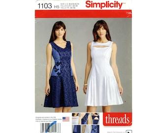 Princess line dress, Simplicity 1103, Sizes 6 - 8 - 10 - 12 - 14