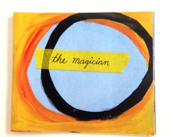 The Magician- Handmade Full Color Illustrated Painted Surreal Collage Magical Heartbreak Poetry Mini Zine Chapbook
