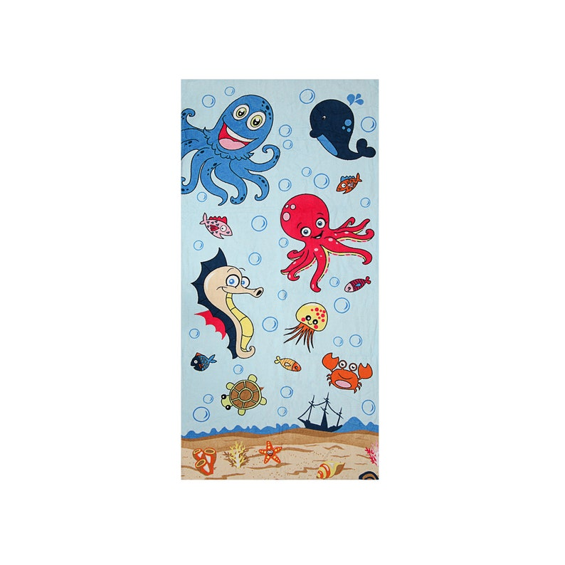 Nautical Beach Towel 100/% Cotton 30 x 60 Soft Bath Towel by Hencely