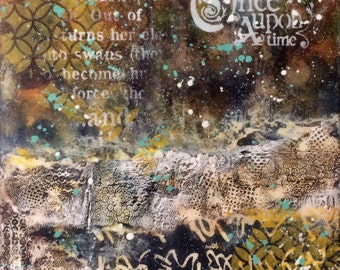 """Mixed Media painting """"Once Upon a Time"""""""