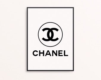9b776ea18698 Chanel Designer Logo Quote Gift Print Picture Sign Card